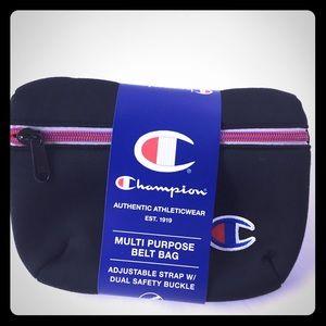 Brand New CHAMPION Attribute Black Fanny Bag